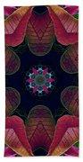 Kaleidoscope Christmas Poinsettia  Beach Towel