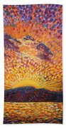 Kaleidoscope Sunrise Beach Towel