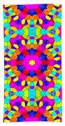 Kaleidoscopic Mosaic Beach Towel