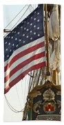 Kalmar Nyckel American Flag Beach Towel