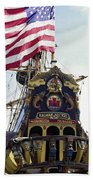 Kalmar Nyckel Tall Ship Beach Towel