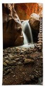 Kanarra Creek Falls  Beach Towel
