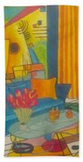 Kandinsky Living Room Beach Sheet