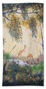 Kangaroo Kingdom Beach Towel