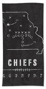 Kansas City Chiefs Art - Nfl Football Wall Print Beach Towel by Damon Gray