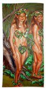 Karen M Times Two At Dragoncon Beach Towel