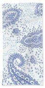 Kasbah Blue Paisley Beach Towel