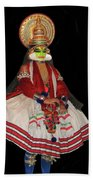 Kathakali Dancer Beach Towel