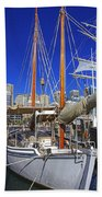 Kathleen Gillett The Artist Cruising Ketch Beach Towel