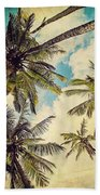 Kauai Island Palms - Blue Hawaii Photography Beach Towel