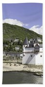 Kaub And Burg Pfalzgrafenstein Beach Towel