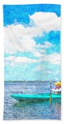 Kayak Lesson Beach Towel