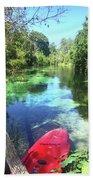 Kayak On Weeki Wachee Springs Beach Sheet