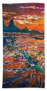 Kayak Serenity  Beach Towel