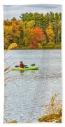 Kayaking In Fall Beach Towel
