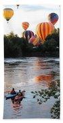 Kayaks And Balloons Beach Towel