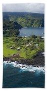 Keanae Peninsula Aerial Beach Towel