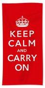 Keep Calm And Carry On Beach Sheet