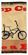 Keep Calm Ride A Bike Beach Towel