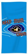 Keep Mum Chum Beach Towel by War Is Hell Store