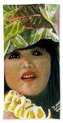 Keiki Child In Hawaiian #115 Beach Towel
