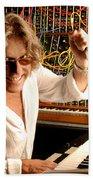 Keith Emerson By Gene Martin Beach Towel