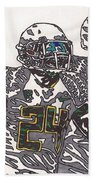 Kenjon Barner And Marcus Mariota Beach Towel by Jeremiah Colley