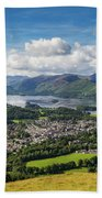 Keswick And Derwent Water View From Latrigg Beach Towel