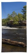 Kettle River Big Spring Falls 6 Beach Towel