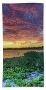 Key Biscayne Sunset Beach Towel