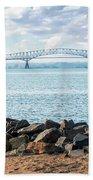 Key Bridge From Ft Smallwood Pk Beach Towel