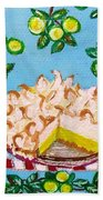Key Lime Pie Mini Painting Beach Towel