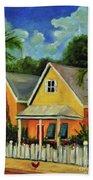 Key West Cottage Beach Towel