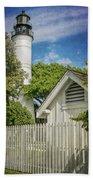 Key West Lighthouse Dsc01547_16 Beach Towel