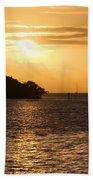 Key West Mangrove Sunrise Beach Towel