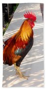 Key West Rooster Beach Towel