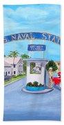Key West U.s. Naval Station Beach Towel