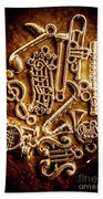Keys Of A Symphonic Orchestra Beach Towel