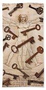 Keys On Artwoork Beach Towel