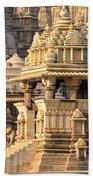 Khajuraho Temple, Chhatarpur District Beach Towel