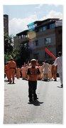 Kid On Parade Beach Towel