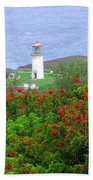 Kilauea Lighthouse Kauai Hawaii Beach Towel