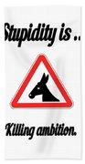 Killing Bigstock Donkey 171252860 Beach Towel