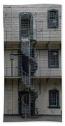 Kilmainham Gaol Spiral Stairs Beach Towel