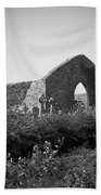 Kilmanaheen Church Ruins Ennistymon Ireland Beach Towel