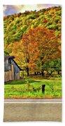 Kindred Barns Painted Beach Towel by Steve Harrington