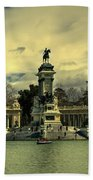 King Alfonso Monument  Beach Towel