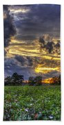 King Cotton Sunset Art Statesboro Georgia Beach Towel