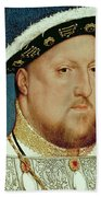 King Henry Viii Beach Towel by Hans Holbein the Younger