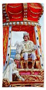 King Of Rex And Page - Mardi Gras New Orleans Beach Towel